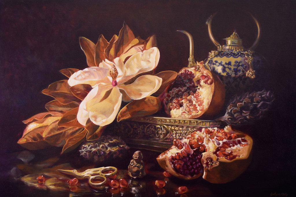 Magnolia Vanitas 61x91cm oil on linen